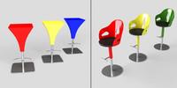 bar stools dora 3d model
