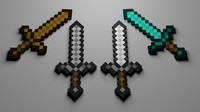Accurate Minecraft Swords