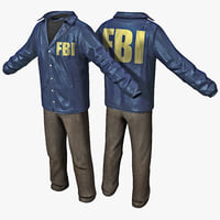 fbi agent clothes 2 3d c4d