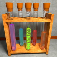 Rack of Vials Test Sample Tubes