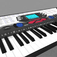 keyboard synth synthesizer 3d model