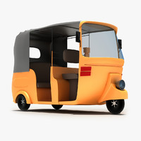 rickshaw modeled 3d max