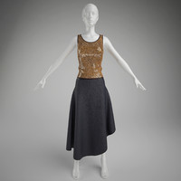 3d woman clothes- skirt mannequin model