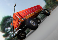 3d wagon model