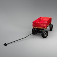 3d model of wagon