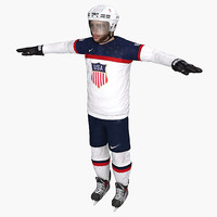 3d model patrick kane usa sochi
