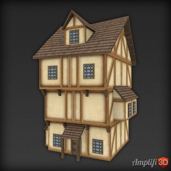 Low Poly Medieval House 02