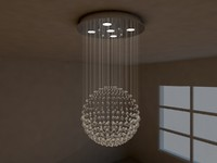 crystal pendant lamp 3d 3ds