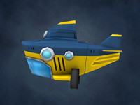 cartoon submarine 3d obj