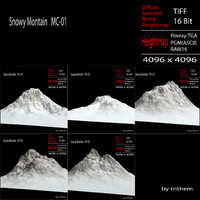 3d model snowy mountain mc-01