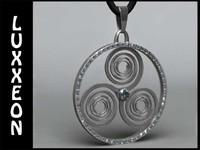 free max mode triskele celtic amulet