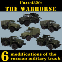 russian ural-4320 trucks 3d 3ds