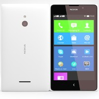 3d model nokia xl x white