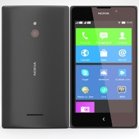 3d nokia xl x black model