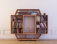 bookcase 17 bookshelf books 3d 3ds