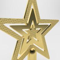 christmas star 3d model