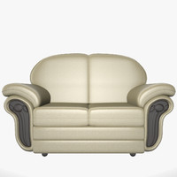 free leather sofa 3d model