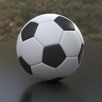 Soccer Ball Low Poly Variants