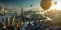 3d city sci-fi model