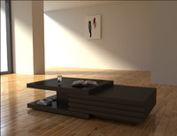 3d modern coffee table