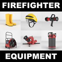 firefighter realistic 3d model