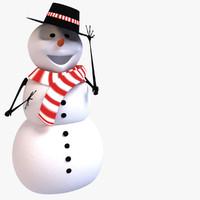 3d max snowman snow