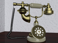 ancient phone 3d model