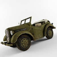 military vehicle car 3d model