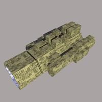 3d space ship model