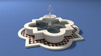 3d model arabic fountain