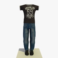 3d model man clothes t-shirt