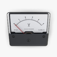 3d dc voltmeter electrical