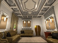 3d model interior design classic