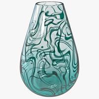 small swirl vase 3d max