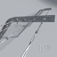 metal barbed wire 3d model