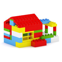 3d model plastic blocks toy