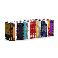hardcover novel books 3d model