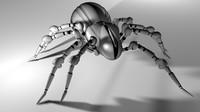robot spider 3d c4d