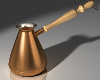 3d model copper coffee maker