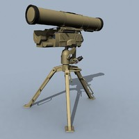 kornet guided missile atgm 3d model