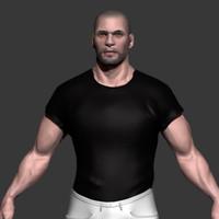 man character 3d obj