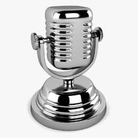 microphone sculpture 3d model