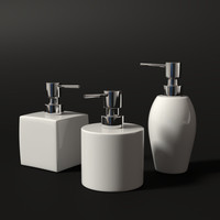3d model of soap dispensers