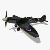 3d model plane spitfire supermarine