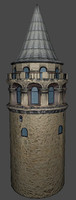galata tower 3d x