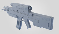 3d prototype rifle model