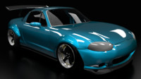 3d nb miata wide body