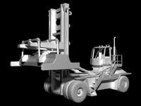 3ds max 24 industrial forklift