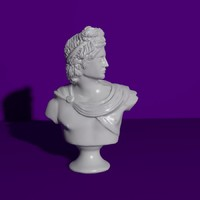 3d model apollo bust