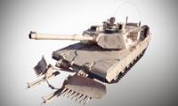 abrams m1a1 tank 3d max